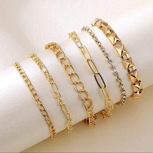 Link Dainty Bracelets 14K Gold